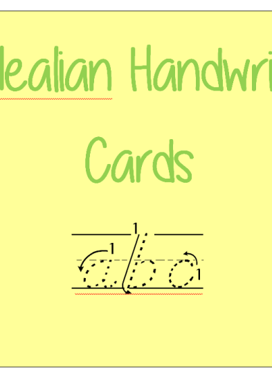 D-Nealian Handwriting Cards-Color-bn